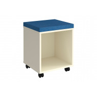 Upholstered Seat Pad For Mobile Cube Pedestals