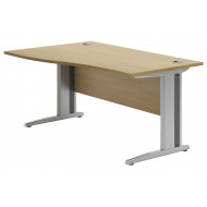 Astrada Deluxe C-Leg Left Hand Wave Desk (Oak)