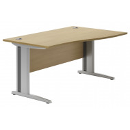 Astrada Deluxe C-Leg Right Hand Wave Desk (Oak)