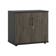 Raven Low Double Door Cupboard (Denver Oak)
