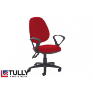 Tully High Back Operator Chair (Fixed Arms)