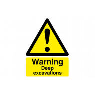Warning Deep Excavations Safety Sign