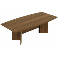Noble Real Wood Veneer Barrel Shaped Boardroom Table