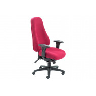 Jansen 24 Hour Fabric Operator Chair (Burgundy)