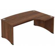 Noble Real Wood Veneer Right Hand Ergo Desk