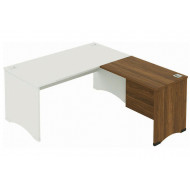 Noble Real Wood Veneer Right Hand Return Desk