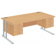 Proteus II Executive Desk 3+3 Drawers