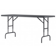 Valence Height Adjustable Rectangular Folding Table