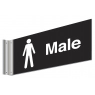 Male Double Sided Washroom Sign