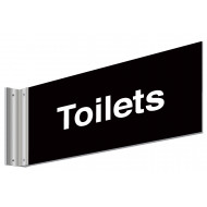 Toilets double sided washroom sign