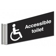 Accessible Toilet Double Sided Washroom Sign