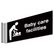 Baby Care Facilities Double Sided Washroom Sign