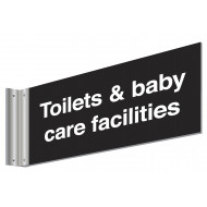 Toilet & Baby Care Facilities Double Sided Washroom Sign