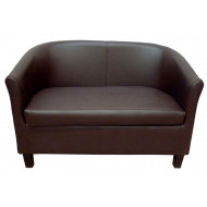 Tibbi 2 Seater Faux Leather Tub Chair