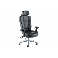 Ternin High Back Leather Operator Chair With Headrest