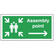 Arrow Right Assembly Point Sign