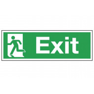 Exit Sign With Running Man On Left
