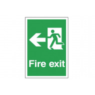 A4 Fire Exit Sign With Man Running Left