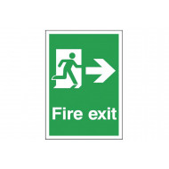 A4 Fire exit sign with man running right