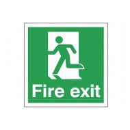 Fire Exit Sign With Man Running Left