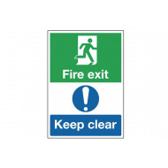 A4 Fire Exit Keep Clear Escape Route Safety Sign