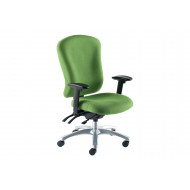 Ternin High Back Fabric Operator Chair With Height Adjustable Arms