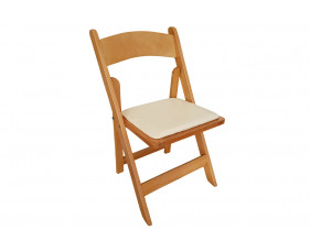 Corrigan Wooden Folding Chair with Seat Pad
