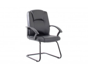 Dream Black Bonded Leather Visitor Chair