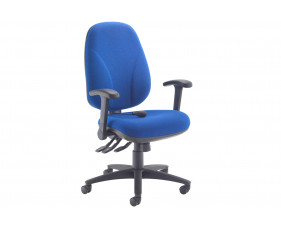 Orchid Deluxe Lumbar Pump Ergonomic Operator Chair With Folding Arms
