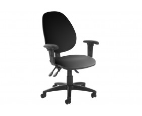 Vantage Plus High Back Asynchro Vinyl Operator Chair With Adjustable Arms