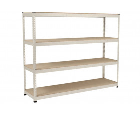 Rapid 1 Heavy Duty Shelving With 4 Chipboard Shelves 2440wx1980h (Grey)