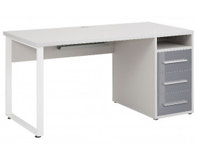 Torrone Hooped Leg Desk With 3 Drawers