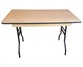 Suttner Rectangular Folding Trestle Table