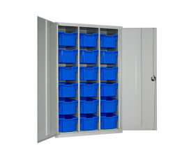 Elite High Capacity Storage Cupboard With 18 Extra Deep Trays