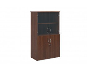 Next-Day Duo Glazed Top Combination Cupboard