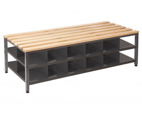 QMP Double Bench Seat With Shoe Storage