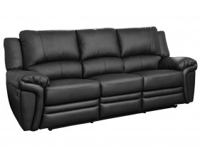 Clavet Leather 3 Seater Recliner Sofa