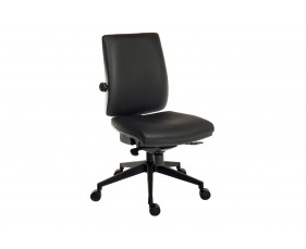 Baron Deluxe 24HR PU Ergonomic Operator Chair (Black Frame)