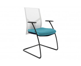 Rhine Mesh Back Visitor Chair With White Backrest