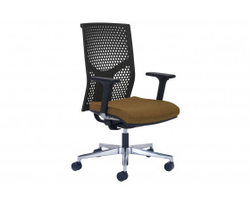 Ezra High Back Operator Chair With Black Poly Backrest
