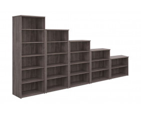 All Grey Oak Bookcase