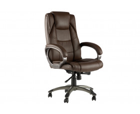 Clipper Brown Leather Faced Executive Chair