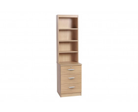 Small Office 3 Drawer CD/DVD Storage Unit With Hutch Bookcase