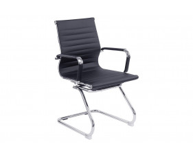 Andruzzi Black Bonded Leather Visitor Chair