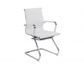 Andruzzi White Bonded Leather Visitor Chair