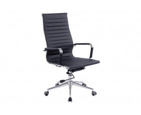 Andruzzi High Back Black Bonded Leather Executive Chair