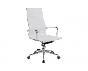Andruzzi High Back White Bonded Leather Executive Chair