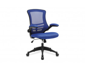 Moon Mesh Back Operator Chair With Black Base (Blue)