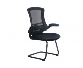 Moon Mesh Back Visitor Chair (Black Frame)