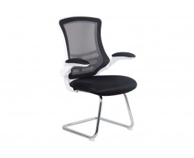 Moon Mesh Back Visitor Chair (Chrome Frame)